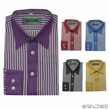 Kids Boys Smart Long Sleeve Wedding Party Striped Formal Shirt Age 1 to 10 Years