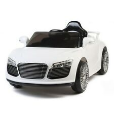 NEW AUDI STYLE KIDS RIDE ON SPORTS CAR~12V BATTERY POWERED ELECTRIC R/C WHITE!