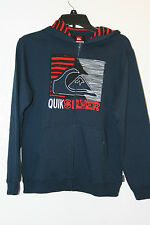 "Quiksilver Boys Kids Sweater Hoodie ""Goal Lee"" Zip Navy NWT"