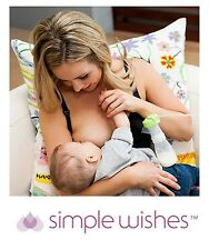 SIMPLE WISHES SUPERMOM ALL IN ONE BRA BLACK OR NUDE NURSING HANDS FREE PUMPING
