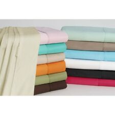 NEW 1000TC 4PC SHEET SET SOLID & STRIPE COLORS 100% EGYPTIAN COTTON IN ALL SIZE