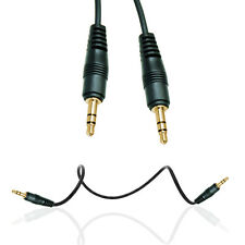 BLACK 3.5MM TO 3.5MM STEREO JACK TO JACK 1M PLUG AUDIO CABLE FOR VARIOUS PHONES