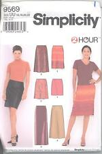 Simplicity 9569 Misses' Skirts in Three Lengths 16, 18, 20, 22  Sewing Pattern