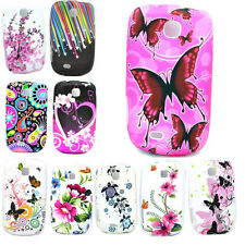 Cell Phone Silicone Rubber Soft Skin Cover Case For Samsung Galaxy Mini S5570