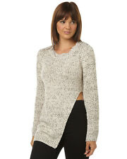 New Minkpink Women's Neptune Womens Tunic Jumper Womens Crew Neck Natural