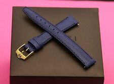 New Gucci 14 MM Lizard Pattern on Genuine Leather Watch Band - Blue