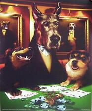 DOGS PLAYING POKER **VINTAGE** PAINTING | Cubical ART | Gifts | FREE Shipping