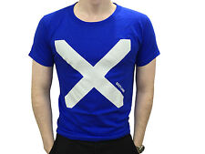 Mens Scottish Saltire Flag Royal Blue T Shirt Brand New With Tags