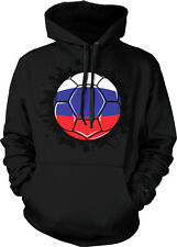 Slovakia Soccer Ball Slovakian Flag Pride World Cup Hoodie Pullover