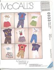 McCall's 6933 Boys' and Girls' T-Shirts, Pants and Shorts  Sewing Pattern