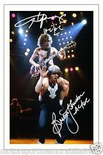 ANGUS YOUNG & BRIAN JOHNSON SIGNED 6X4 PHOTO PRINT AUTOGRAPH AC/DC ACDC