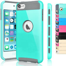 Film+ Hybrid Rubber Shockproof Case Cover For Apple iPod Touch 5 5th / 6 6th Gen