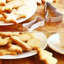 2 Pcs Cookie Biscuit Cutter Cake Decorating Chocolates Jelly Bread Mold Tool