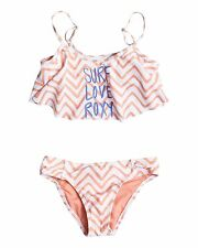 NEW ROXY™  Girls 8-14 Surf Love Roxy Flutter Top Bikini Teens Swimwear