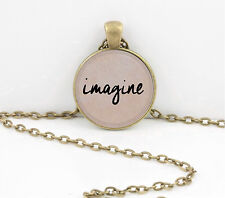Beatles imagine....  Pendant Necklace or Key Ring