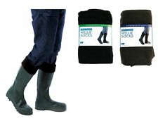1 Pair Of Men's Fleece Wellie Socks Liners, size 7-12 Wellington Boot Socks