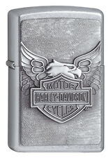 Zippo Fuel Sturm Lighter Street Chrome   Harley Davidson Iron Eagle   1330019