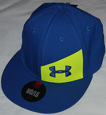 Under Armour Men's Royal Blue/High Vis Yellow UA Stretch Fit Hat **size choices