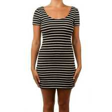 Betty Basics Areatha Cap Sleeve Dress Black/White Stripe BB206
