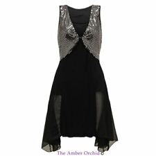 NEW WOMENS LADIES SEXY SPARKLY SEQUIN DIPPED COCKTAIL EVENING PARTY MAXI DRESS