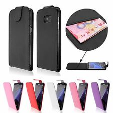 Magnetic PU Leather Flip Vertical Case+LCD Guard Fr Samsung Galaxy S7 Edge G9350
