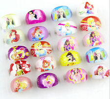 100 x Cute Cartoon Girls Children Kids Resin Lucite Rings Lovely Gifts Free Ship