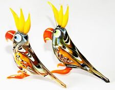 "Murano Style Art Craft Color Glass Figurines ""Birds,Parrots,Ducks,Owls "" N88"