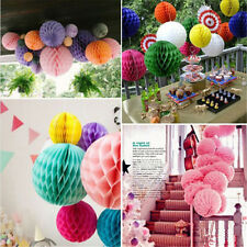 1XColorful Cute Honeycomb Ball Paper Lanterns Wedding Birthday Party Decorations