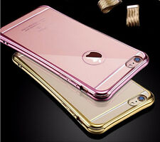 Ultrathin Clear Plating Silicone TPU Back Cover Case For Apple iPhone 6 6S Plus