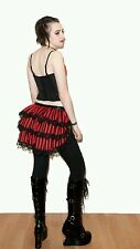 Black & Red stripe bustle skirt. Lace. Steampunk. Festival 8-10-12-14-16
