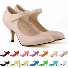 Sexy Pointy Toe Womens Mary Jane Kitten High Heels Party OL Court Shoes