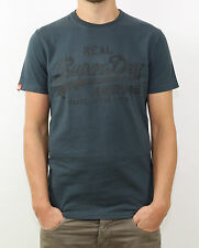 SuperDry T-Shirt - MS1GA007F6 00Q - VINTAGE LOGO ENTRY TEA - CHARCOAL +NEW