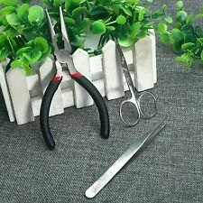 Easy Use Long Needle-nose Plier Stainless Tweezers Scissors Hand Craft DIY Tool