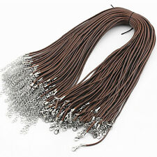 10pcs DIY Necklace Leather Cord Chain Findings Strings Ropes with Lobster Clasp