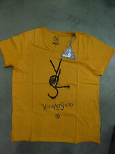 Boom Bap T-Shirt - YLS- MIXED SUNFLOWER (yellow) V-Neck- New +.various Sizes