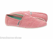 PINK POLKA DOT  CASUAL SLIP ON CANVAS FLATS LADIES WOMENS ZAPATILLAS COMFY SHOES