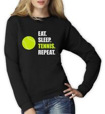 Eat Sleep Tennis Repeat - Tennis Player Gift Sports Women Sweatshirt Novelty