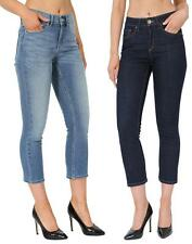 Womens, Ladies Ex High Street Crop, Cropped Denim Jeans Cropped Womens