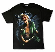 Iron Maiden Breeg Up Close N.A. Tour 2010 Mens Black T Shirt