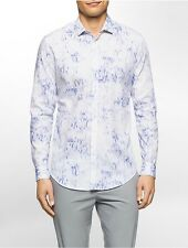calvin klein mens slim fit blurred pixel print shirt