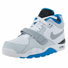 NIKE BOYS AIR TRAINER SC II GS CROSS TRAINERS WHITE WOLF GREY BLUE 631488 100