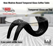 NEW Modern Tempered Glass Coffee Table
