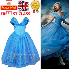 Girls Princess Cinderella Butterfly Costume Outfit Cosplay Party Fancy Dress Up