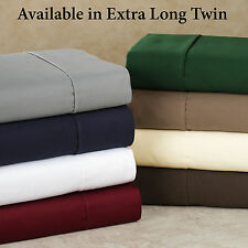 """Real 400TC 100% Egyptian Cotton Ultra Soft Solid 6PC Sheet Set 30""""Deep CA Size"""