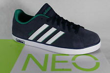 Adidas Lace up Trainers Sports Shoes Low shoes DERBY VULC Leather blue NEW