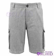 Mens Bellfield Summer Striped Chino Combat Cotton Shorts Jeans Trousers 28-36