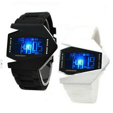 Mens Boys Watches LED Light Digital Sports Quartz Silicone Wrist Watches 4WS