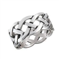 925 Sterling Silver Irish Celtic Eternity Knot Knotwork Ring Band