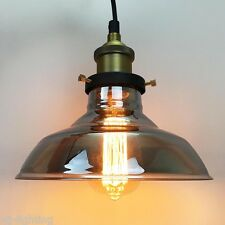 New Crey Golbe Glass Modern Vintage Retro Ceiling Pendant Light Industrial Lamp