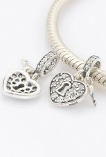 Key to my Heart Charm  Genuine 925 Sterling Silver